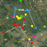 visualizzazione interventi su mappa satellitare