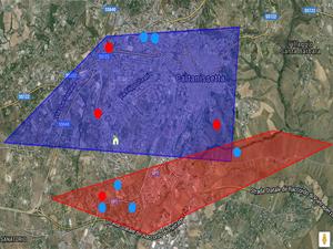visualizzazione sone territoriali su mappa